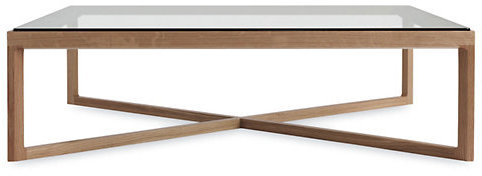 Design Within Reach Krusin Coffee Table with Glass Tabletop