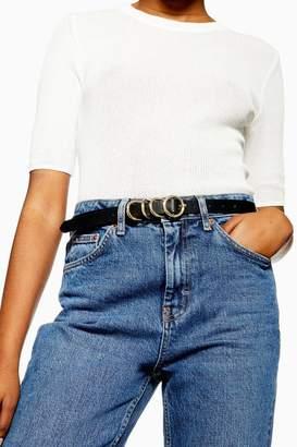 Topshop Skinny Circle Buckle Belt