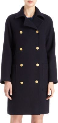 Peacoat with Gold Buttons