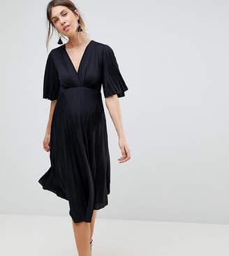 Asos Kimono Pleated Midi Dress