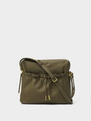 DKNY Ruched Leather Small Crossbody