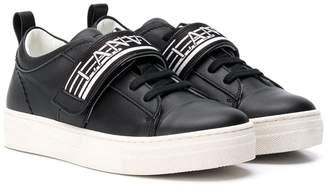 Lanvin Enfant TEEN logo touch strap sneakers