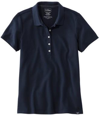 L.L. Bean L.L.Bean Women's Premium Double L Shaped Polo, Short-Sleeve