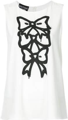 Moschino sleeveless bow print T-shirt