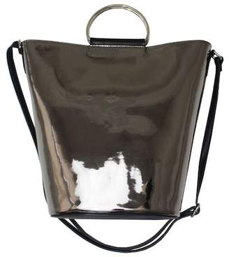 T-Shirt & Jeans Metallic Bucket Bag