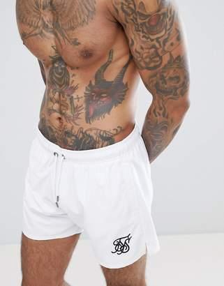 SikSilk Swim Shorts In White