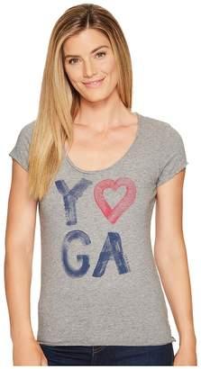 Life is Good Yoga Heart Smooth Tee Women's T Shirt