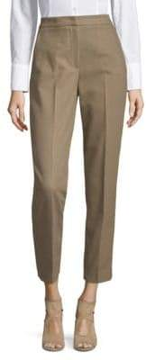 MSGM High Rise Straight Leg Trousers