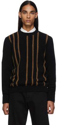 Salvatore Ferragamo Black Wool Crewneck Sweater