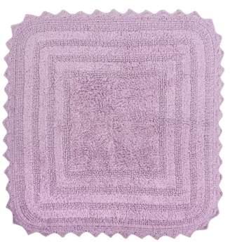 """Dii Design Imports Square Crochet Bath Mat, 24""""x24"""", 100% Cotton, Multiple Colors"""
