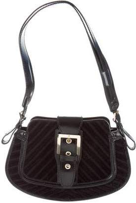Tod's Leather-Trimmed Woven Bag