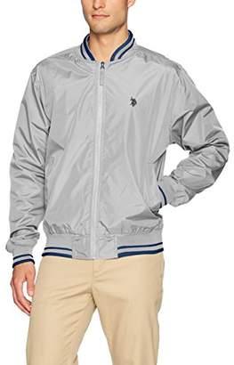 U.S. Polo Assn. Mens Rib Collar Bomber Jacket