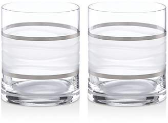 Michael Wainwright Ile De Re Double Old Fashioned Glass, Set of 2