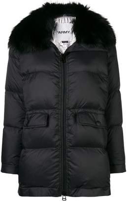 Yves Salomon Army fox fur trim puffer jacket