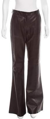 Prabal Gurung Mid-Rise Leather Pants