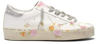 Golden Goose Hi Star Floral Leather Low Top Trainers - Womens - White Multi