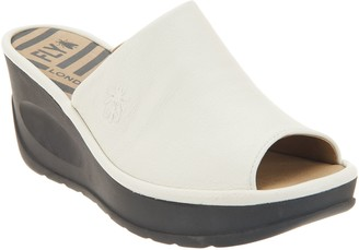 Fly London Leather Slip On Wedges - Jamb
