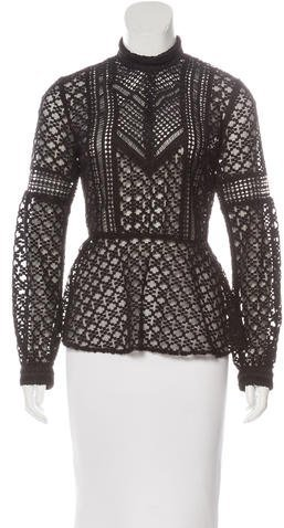 Anna SuiAnna Sui Embroidered Long Sleeve Top