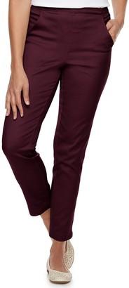 Croft & Barrow Women's Classic Pull-On Tapered-Leg Jeans