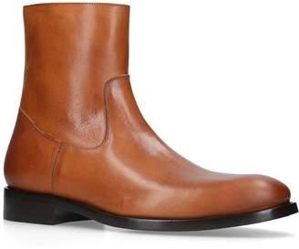 Balenciaga Leather Zipped Boots