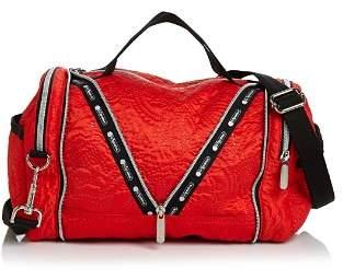 Le Sport Sac Colette Medium Floral-Embossed Convertible Duffel Bag