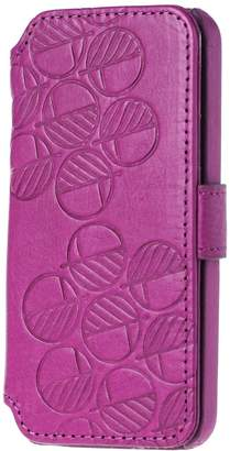 Drew Lennox - iPhone SE 5 5S Luxury English Leather Phone Wallet with 3 Card Slots in Fuchsia Pink