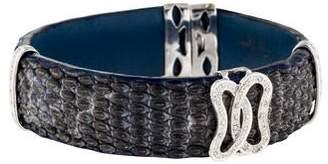 14K Lizard & Diamond Cuff Bracelet