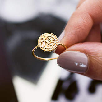aad5418dd Button and Bean Personalised Fingerprint Ring