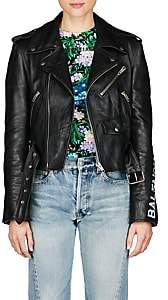Balenciaga Women's Leather Moto Jacket - Black