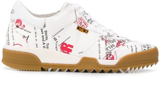 Vivienne Westwood low top printed slogan sneakers
