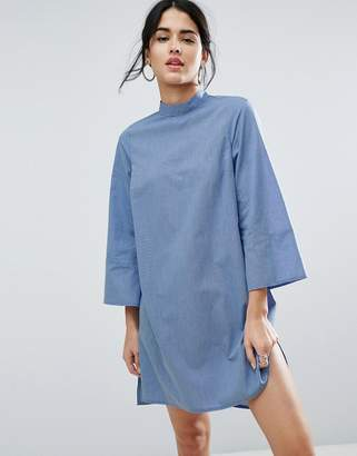 ASOS High Neck Cotton Shift Dress $49 thestylecure.com