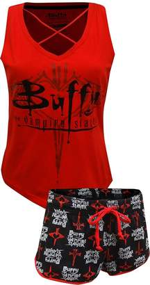 Briefly Stated Women's Buffy The Vampire Slayer 2-Piece Pajama Set