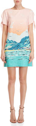 Yumi Seaside Scene Tunic Dress
