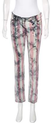 Balmain Stripe Acid Wash Jeans