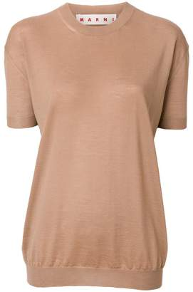 Marni cashmere short sleeve sweater