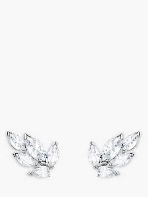 Swarovski Louison Crystal Stud Earrings, Silver/Clear