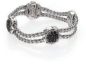 John Hardy Women's Kali Black Sapphire& Sterling Silver Four-Station Bracelet
