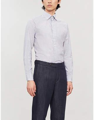 Eton Checked slim-fit cotton-twill shirt