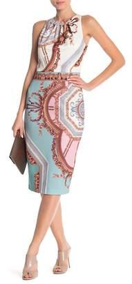 Ted Baker Versailles Contrast Pearl-Detail Midi Dress