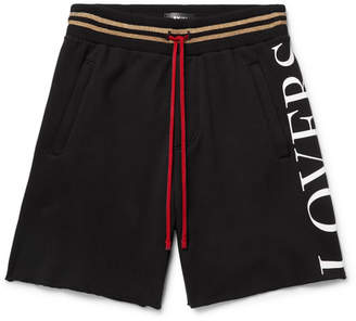 Amiri Printed Fleece-Back Modal-Blend Jersey Drawstring Shorts