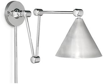 Regina-Andrew Design Plug-In Zig-Zag Wall Sconce - Nickel - Regina Andrew Design