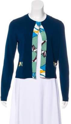 Paule Ka Silk-Lined Knit Cardigan