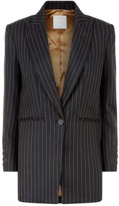 Sandro Contrast Stripe Blazer