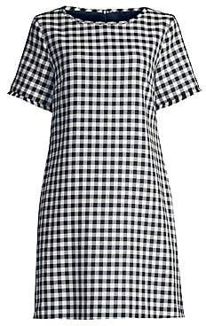 Max Mara Women's Afelio Cotton Gingham Shift Dress