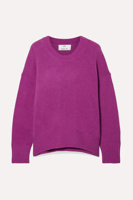 Allude Oversized Cashmere Sweater - Violet