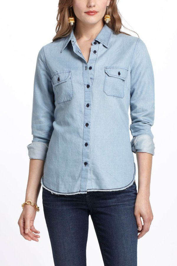 Stitched Chambray Buttondown