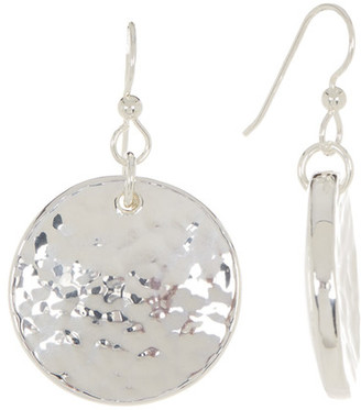 SIMON SEBBAG Sterling Silver Round Textured Disc Drop Earrings $118 thestylecure.com
