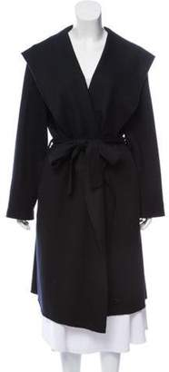 The Row Wool Robe Coat Black Wool Robe Coat