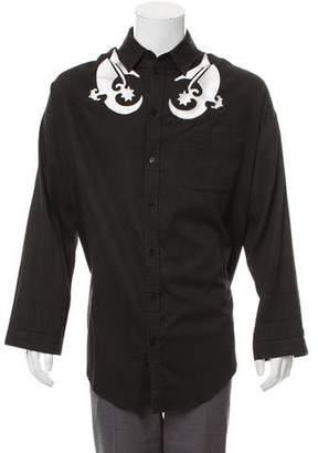 Kokon To Zai Embroidered Button-Up Shirt
