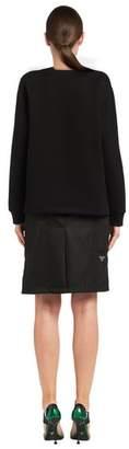 Prada Printed Crew-Neck Sweatshirt